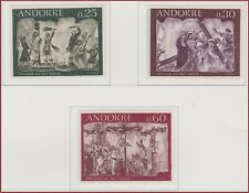 1968 ANDORRE N°191/193** FRESQUES RELIGIEUSES, French Andorra Religion Art MNH