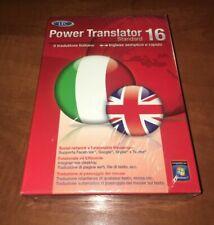 Avanquest Lec Power Translator 16 Standard Italiano-Inglese Box Italian New