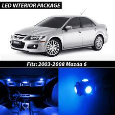 2003-2008 Mazda 6 Blue Interior LED Lights Package Kit MazdaSpeed 6