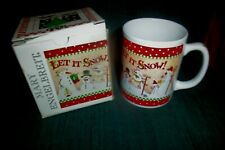 Mary Engelbreit Let It Snow Collectible Mug New In Box Adorable Snowman
