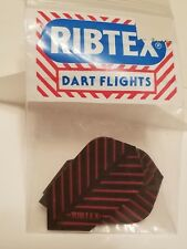 Two packs (6 flights) Ribtex vintage 90's silver/red ribbed dart flights