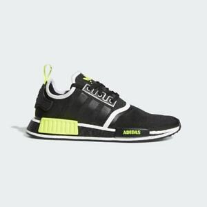 Adidas NMD_R1 Men's Sneakers Shoes Black / Yellow / White  Brand New