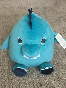 NWT Carters Aqua Teal Blue Dinosaur Plush Squishy Stuffed RARE HTF SOLD OUT