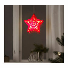 Ikea Strala Lampshade in Red by Sarah Fager. Includes Cord and 2 Bulbs