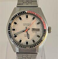 Vintage 1977 Caravelle 666 Diver Coke Day date Automatic Men's Watch
