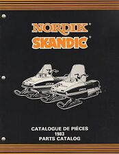 1983 SKI-DOO NORDIK, SKANDIC SNOWMOBILE PARTS MANUAL 480 1172 00 (579)