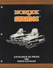 1983 S 00004000 Ki-Doo Nordik, Skandic Snowmobile Parts Manual 480 1172 00 (579)