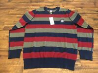 Adidas Originals Men's Skateboarding Striped Sweater Size XL [DH6661]