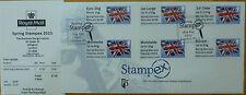 Briefmarken aus Großbritannien mit Ersttagsbrief für Post, Kommunikation