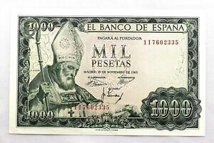 Spain- Estado Español. Billete. 1000 Pesetas. 1965. Madrid. SC/UNC