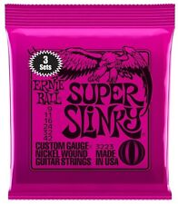 3 sets of Ernie Ball 2223 Super Slinky Electric Guitar Strings 9-42 UK SELLER