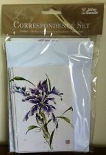Purple Flower Correspondence Set, Gift Bag, 5 Gift Cards, 10 Writing Sheets, 15