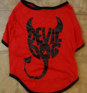 Dog Shirt  Sz XXS XS S M L XL Black White Red Dog Clothes Halloween