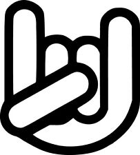The Shocker Hand Symbol Decal Sticker Choose Color Large Size #lg2939