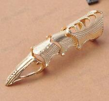 PUNK full finger JOINT articulated ARMOUR RING claw tip GOLD/SILVER TONE bronze