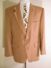 Camel Hair Blazer Mens 42 R Tan Sport Coat Jacket Kuppenheimer Vintage Classic