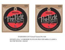 D'ADDARIO EJ45 Pro Artè OFFERTA 2 SET CORDIERA IN NYLON PER CHITARRA CLASSICA