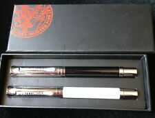TAITTINGER CHAMPAGNE BLACK ROLLERBALL PEN SET BNIB REFILLABLE