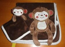 Koala Baby Brown Monkey Plush Security Blanket & Crib Blanket Set