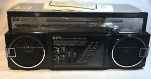 Vintage GPX Radio Mini Boombox AM/FM A275R Ghettoblaster w/original box & manual