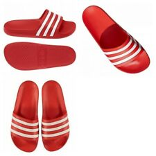 Adidas Mens Slide Shoes Silders Adilette Aqua Flip Flops Beach Sandals Red