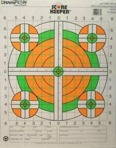 12 Champion Score Keeper 100 Yard Rifle Sighting In Targets FL Green Orange