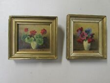 TWO WONDERFUL ANTIQUE OR VINTAGE MINIATURE OIL PAINTINGS IN PERIOD FRAMES