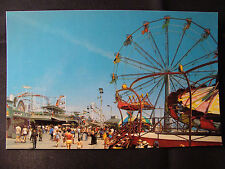 Exciting Rides At Santa Cruz Beach Boardwalk postcard