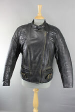 CLASSIC BRITISH MADE SCOTT LEATHERS COWHIDE BIKER JACKET SIZE 16