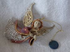2003 Origins Artisan Roman Inc Angel With Harp Christmas Ornament