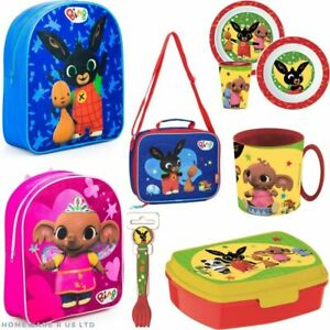 childrens kids boys girls bing charactor toy kitchen school accesories bags