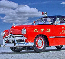 Very Rare - 1949 CHICAGO FIRE DEPARTMENT - Ford Chief's Cruiser - First Gear