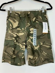NWT Old Navy Boys Camo Cargo Shorts Elastic Waistband Size 10-12 Built in Flex