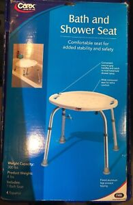 Carex Health Brands Adjustable Bath and Shower Seat  ( distressed/ open box)