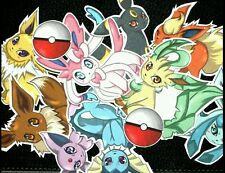 Eeveelution Pokemon stickers 2x2 inch