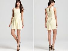 NWT JOIE Soleil Lemon Yellow Eyelet Dress Meduim Retail $338