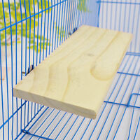 Wooden Cockatiel Parrot Bird Cage Perches Stand Platform Pets Budgie Hanging Toy