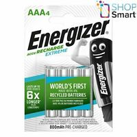 4 ENERGIZER RECHARGEABLE EXTREME AAA HR03 BATTERIES 1.2V 800mAh NEW