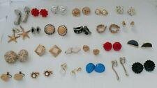 Lot 24 Clip Screwback Earrings Pegasus Coro Crown Trifari Japan & Unbranded