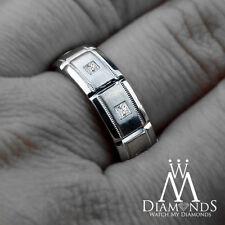 Men's Diamond White Gold 14k Wedding & Anniversary Bands