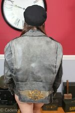 Vintage 1960's Brooks Leather Motorcycle Harley Davidson Leather Jacket 46! J195