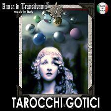 Tarocchi gotici vintage simboli pagani magia nera rossa wicca occulto occultismo