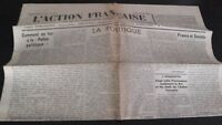 JOURNAL NATIONALISTE L'ACTION FRANCAISE 6 AOUT 1934 N° 218 ABE