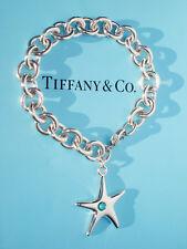Tiffany & Co Elsa Peretti Plata de Ley Estrella de mar turquesa Pulsera