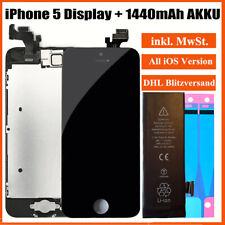 Für iPhone 5 Display LCD mit RETINA VORMONTIERT Komplett Front in Schwarz + AKKU