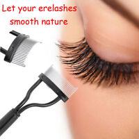 Beauty Makeup Eyelash Metal Brush Comb Lash Separator Mascara Lift Curl Tool JT