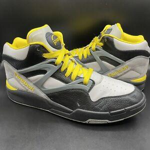 Reebok Pump Omni Zone II Size 12 Mens Shoe Black Grey Yellow