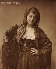 "Frank Meadows Sutcliffe Photo ""Portrait of Polly Swallow"" 1889"