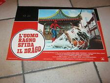 fotobusta L'UOMO RAGNO SFIDA IL DRAGO 1979,Spider-Man,Hammond,Marvel