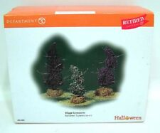 DEPT 56 HALLOWEEN Village Accessories 3 Topiaries MIB